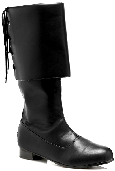 Men's Costume Rear Lacing Cuffed Pirate Calf Boots