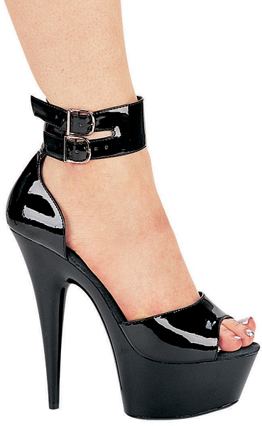 6 Inch Stiletto Heel Closed Back Platform Sandals w/Ankle Strap - Click Image to Close