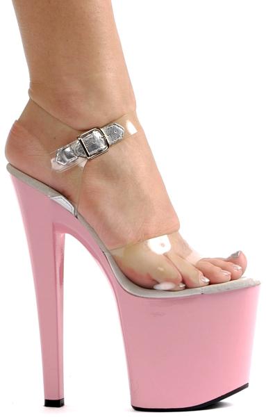 8 Inch Stiletto Heel Platform Sandals