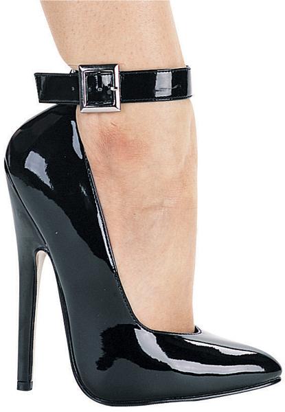 6 Inch Stiletto Heel Ankle Strap Pumps