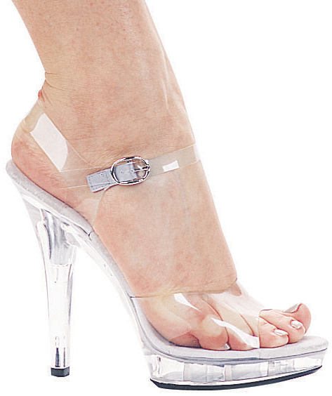 5 Inch Stiletto Heel Clear Platform Sandals